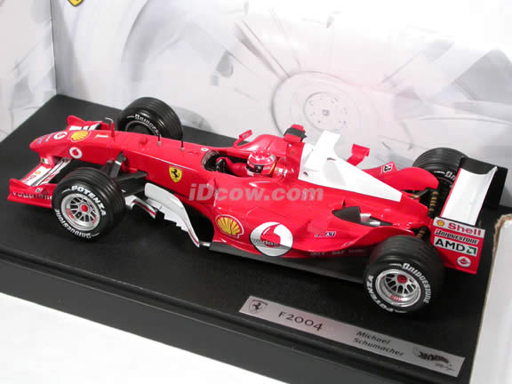 2004 Ferrari Formula One F1 #1 Michael Schumacher diecast model car 1:18 scale die cast by Hot Wheels