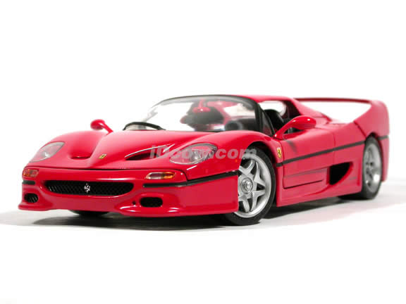 1995 Ferrari F50 diecast model car 1:18 scale die cast by Hot Wheels - Red