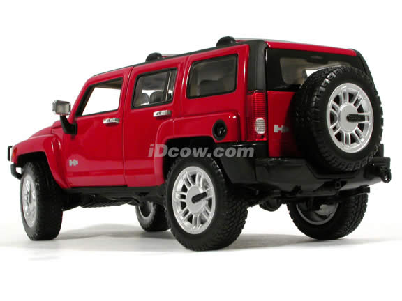 2005 Hummer H3 Wagen diecast model car 1:18 scale die cast by Hot Wheels - Red