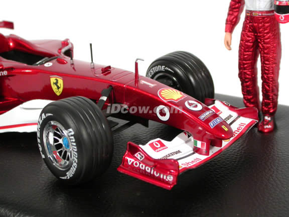 2004 Ferrari Formula One F1 #1 Michael Schumacher diecast model race car 1:18 die cast by Hot Wheels - 7 time World Champion