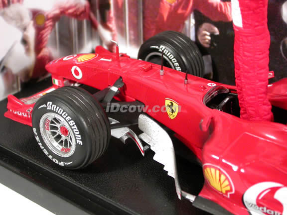 2004 Ferrari Formula One F1 #1 Michael Schumacher diecast model race car 1:18 die cast by Hot Wheels - Victory Edition