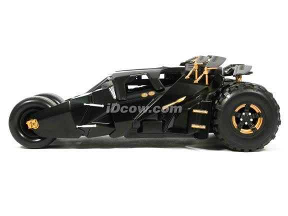 2005 Batman Begins Batmobile diecast model car 1:18 scale diecast by Hot Wheels - Black
