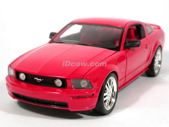 2005 Ford Mustang GT diecast model car 1:18 scale diecast by Hot Wheels - Red