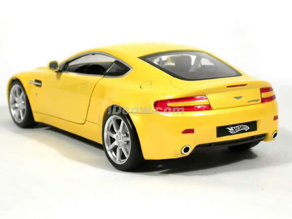 2005 Aston Martin Vantage diecast model car 1:18 scale diecast by Hot Wheels - Yellow
