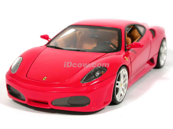 2006 Ferrari F430 diecast model car 1:18 scale diecast by Hot Wheels - Red