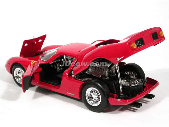 1964 Ferrari 250 LM diecast model car 1:18 scale diecast by Hot Wheels - Red