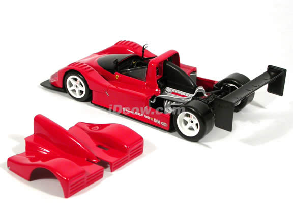 1993 Ferrari 333 SP diecast model car 1:18 scale diecast by Hot Wheels - Red