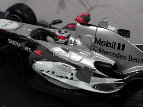 2005 Mercedes Benz McLaren Formula One F1 MP4-20 Kimi Raikkonen diecast model car 1:18 scale die cast by Hot Wheels