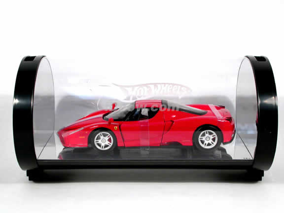 2002 Ferrari Enzo diecast model car 1:18 scale diecast by Hot Wheels - Red Limited Edition Tube