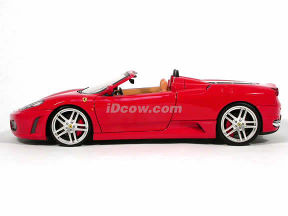2006 Ferrari F430 diecast model car 1:18 scale spider by Hot Wheels - Red Spider