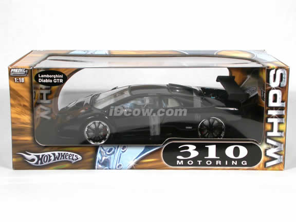 2000 Lamborghini Diablo GTR 310 Motoring diecast model car 1:18 scale diecast by Hot Wheels - Black