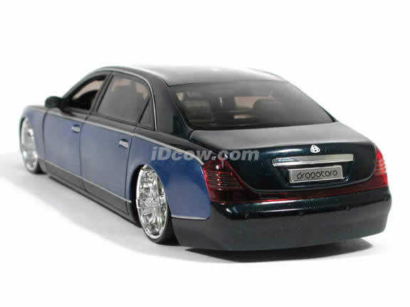 2005 Maybach 62 Dropstar diecast model car 1:18 scale diecast by Hot Wheels - Metallic Blue h2261