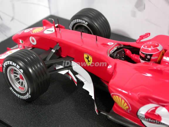 2005 Ferrari Formula One F1 #1 Michael Schumacher diecast model race car 1:18 die cast by Hot Wheels - G9727