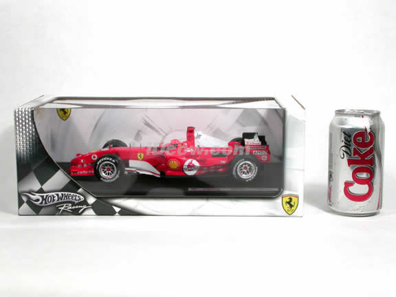 2005 Ferrari Formula One F1 #1 Michael Schumacher diecast model race car 1:18 die cast by Hot Wheels - G9727