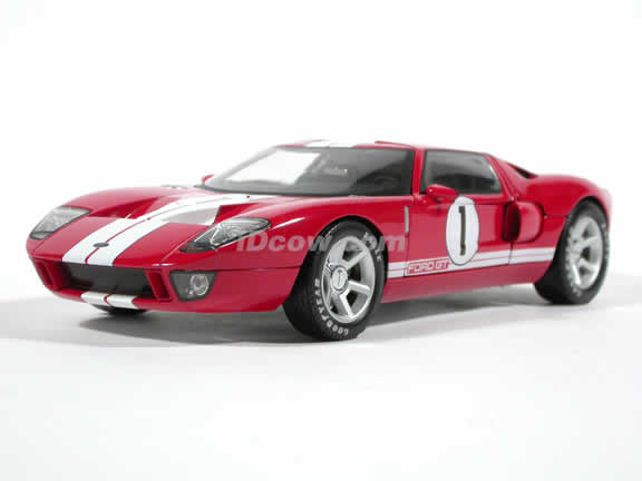 2004 Ford GT Concept diecast model car 1:18 die cast by Hot Wheels - Red Limited Edition Tube H2757