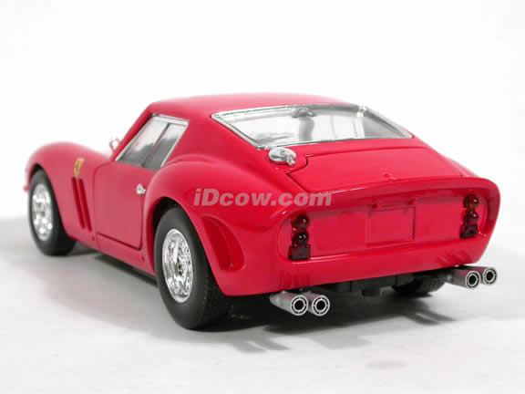 1962 Ferrari 250 GTO diecast model car 1:18 scale diecast by Hot Wheels - Red 23912