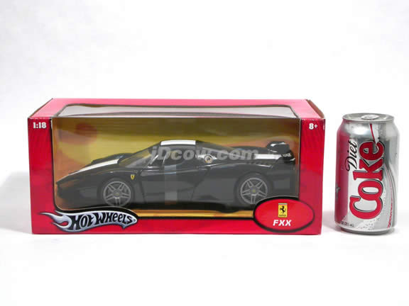2006 Ferrari FXX Enzo diecast model car 1:18 scale die cast by Hot Wheels - Black J2864
