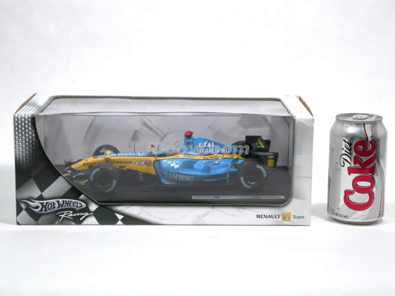 2006 Renault Formula One F1 R26 #1 Fernando Alonso diecast model car 1:18 scale die cast by Hot Wheels - J2982
