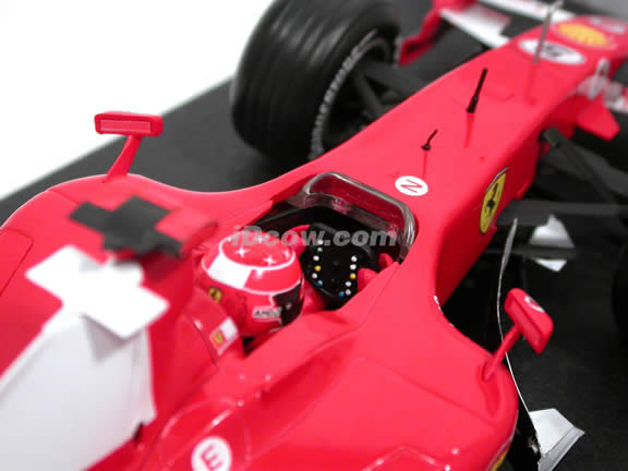 2006 Ferrari Formula One F1 #5 Michael Schumacher diecast model race car 1:18 die cast by Hot Wheels - J2980