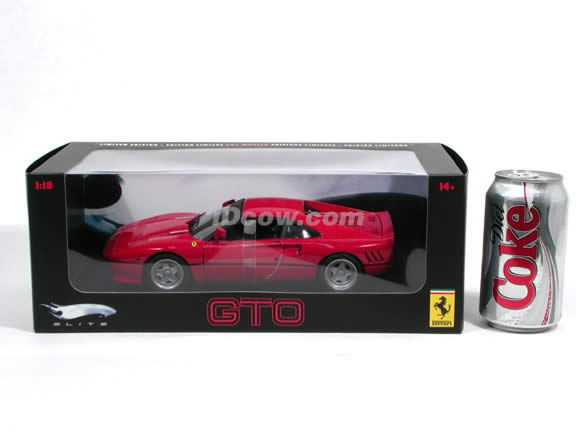1984 Ferrari 288 GTO diecast model car 1:18 scale die cast by Hot Wheels Elite - Red J8248
