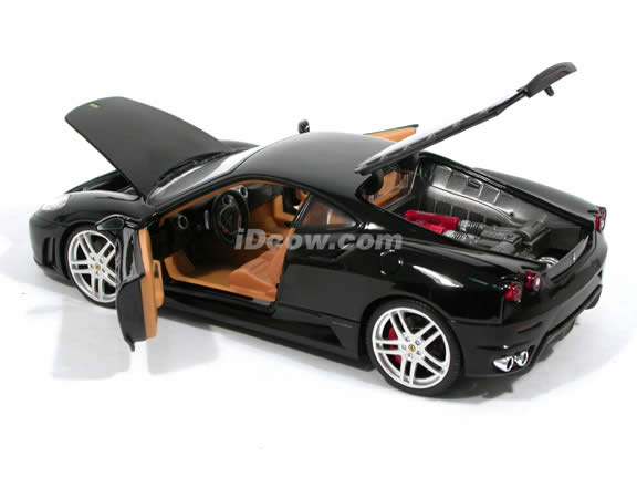 2006 Ferrari F430 diecast model car 1:18 scale diecast by Hot Wheels - Black H3070