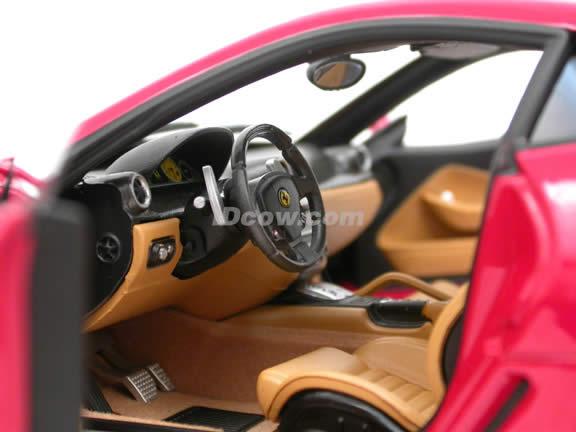 2007 Ferrari 599 GTB Fiorano diecast model car 1:18 scale die cast by Hot Wheels Elite - Elite Red J2917