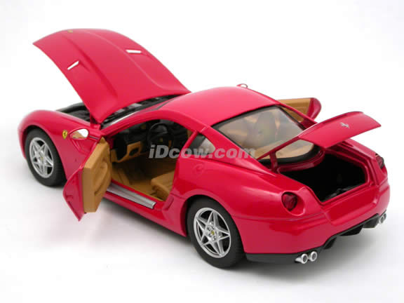 2007 Ferrari 599 GTB Fiorano diecast model car 1:18 scale die cast by Hot Wheels - Red