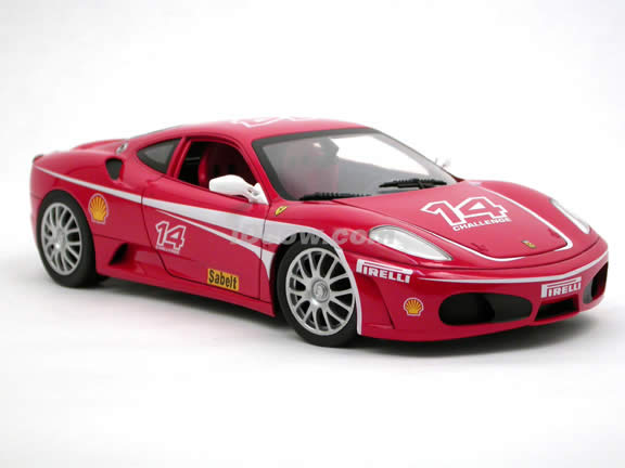 2006 Ferrari F430 Challenge diecast model car 1:18 scale die cast by Hot Wheels - Red