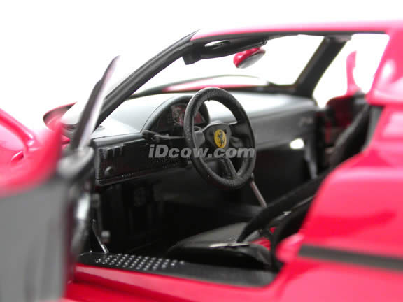 1995 Ferrari F50 diecast model car 1:18 scale die cast by Hot Wheels Elite - Red J2929