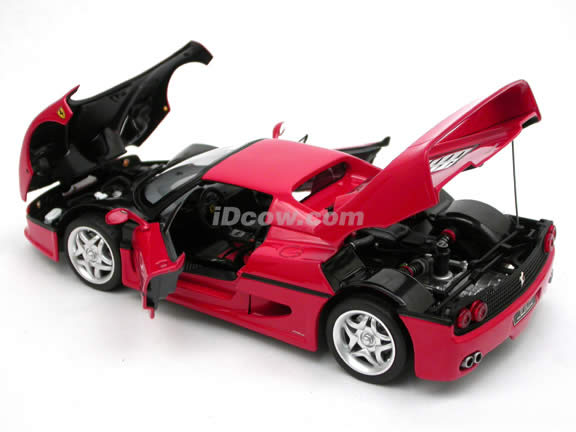 1995 Ferrari F50 diecast model car 1:18 scale die cast by Hot Wheels Elite - Red J2929