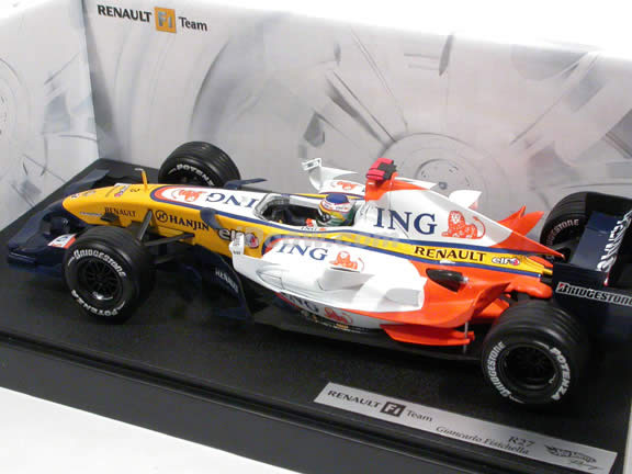 2007 Renault Formula One F1 R27 #3 Giancarlo Fisichella diecast model car 1:18 scale die cast by Hot Wheels - K6631