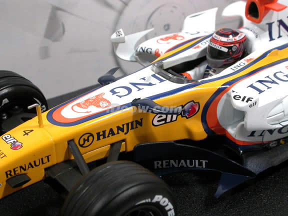 2007 Renault Formula One F1 R27 #4 Heikki Kovalainen diecast model car 1:18 scale die cast by Hot Wheels - K6632