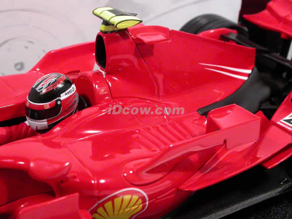 2007 Ferrari Formula One F1 diecast model race car 1:18 #6 Kimi Raikkonen by Hot Wheels - K6629