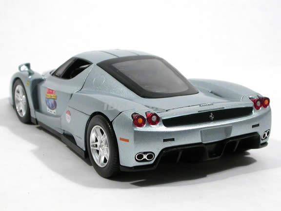 2002 Ferrari Enzo diecast model car 1:18 scale die cast by Hot Wheels - Ferrari 60 Relay Silver L2971