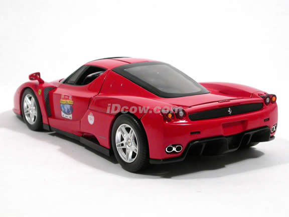 2002 Ferrari Enzo diecast model car 1:18 scale die cast by Hot Wheels - Ferrari 60 Relay Red L2968