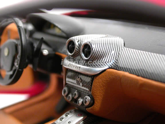 2006 Ferarri 599 GTB Fiorano diecast model car 1:18 scale die cast by Hot Wheels Super Elite - Red K4148