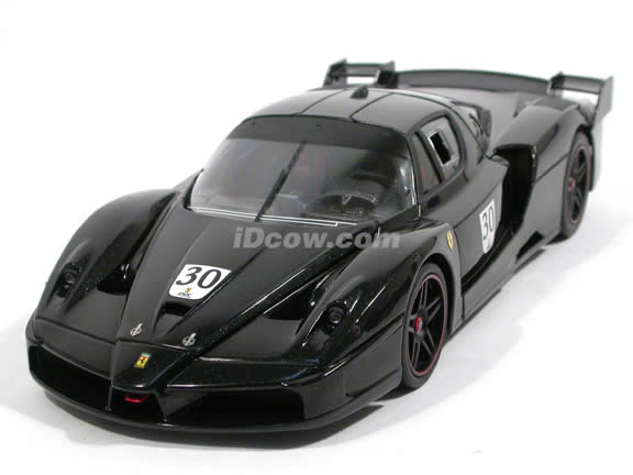 2007 Ferrari FXX Michael Schumacher diecast model car 1:18 scale die cast by Hot Wheels Super Elite - Black L7126