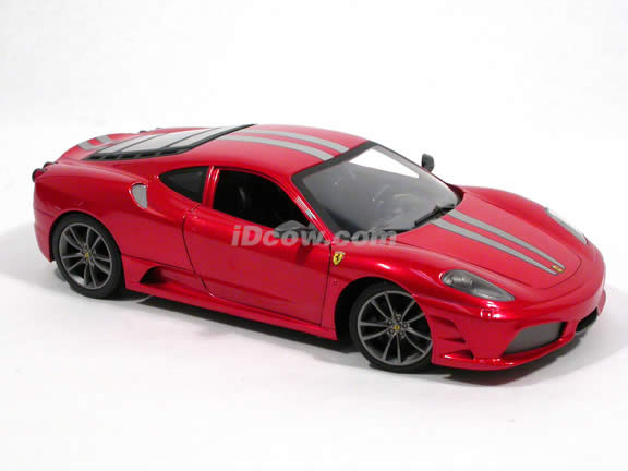 2008 Ferrari 430 Scuderia diecast model car 1:18 scale die cast by Hot Wheels - Red