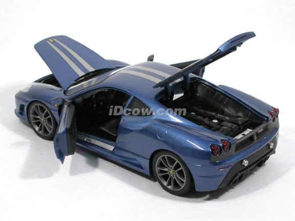 2008 Ferrari 430 Scuderia diecast model car 1:18 scale die cast by Hot Wheels - Blue L2951