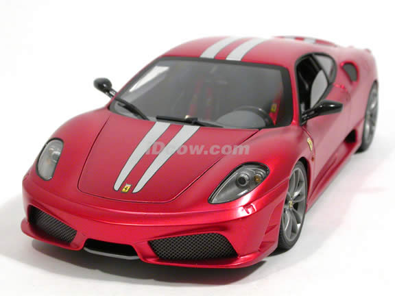 2008 Ferrari 430 Scuderia diecast model car 1:18 scale die cast by Hot Wheels Elite - Red L2973
