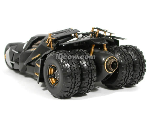 2008 The Dark Knight Batmobile diecast model car 1:18 scale die cast by Hot Wheels - N2480