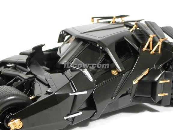 2008 The Dark Knight Batmobile diecast model car 1:18 scale die cast by Hot Wheels - N2480