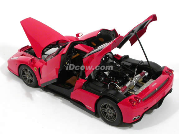 2002 Ferrari Enzo diecast model car 1:18 scale Michael Schumacher by Hot Wheels Elite - Red N2058