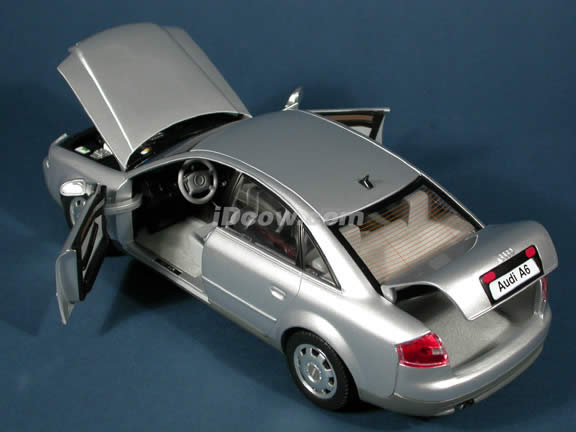2003 Audi A6 diecast model car 1:18 scale die cast by Highway 61 - Silver