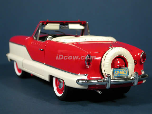 1959 Metropolitan 1500 diecast model car 1:18 scale die cast by Highway 61 - Red & White