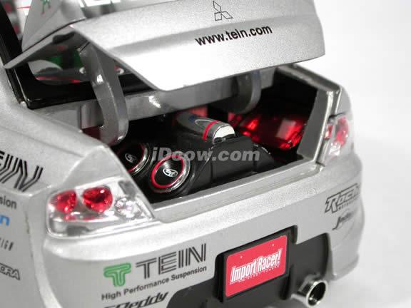 2004 Mitsubishi Lancer Evolution VIII #12 diecast model car 1:18 scale die cast from Import Racer Jada Toys - Silver
