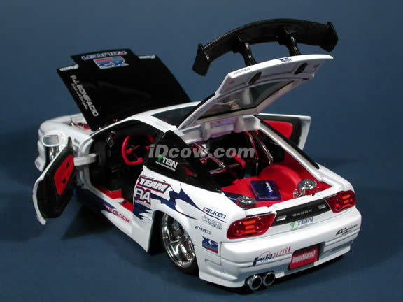 1990 Nissan 240SX diecast model car 1:18 scale die cast from Import Racer Jada Toys - White