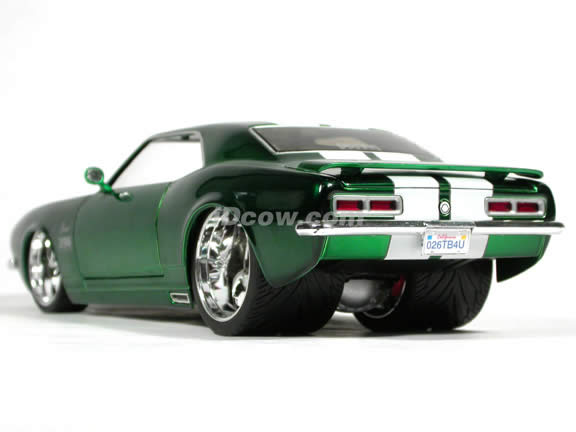 1968 Chevrolet Camaro diecast model car 1:18 scale die cast from Dub City BigTime Muscle Jada Toys - Candy Green