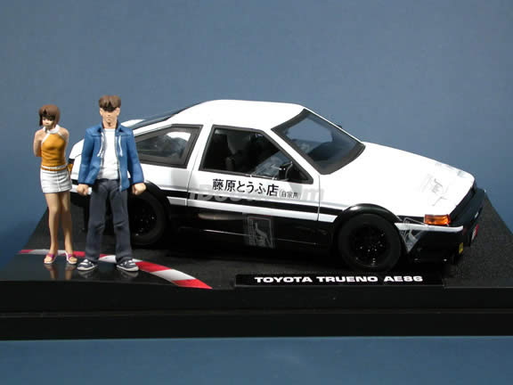 1985 Toyota Trueno AE86 Initial D diecast model car 1:18