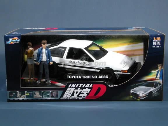 1985 Toyota Trueno AE86 Initial D diecast model car 1:18 scale die cast by Jada Toys